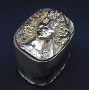 Vintage 1910 German Silver Plated (Over Copper) Snuff Box.