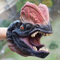 Dinosaurs Dilophosaurus Head Glove Dino Hand Puppet Toys Kids Role Play Party