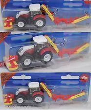 Siku Super 1672 Steyr CVT 6230 Traktor mit Pöttinger Mähwerkskombination, OVP