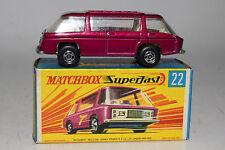 Matchbox Superfast #22 Freeman Inter-City Commuter Bus, Metallic Purple, Lot A