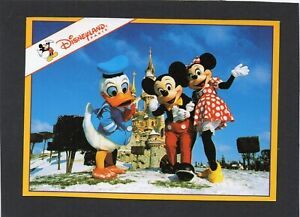 DISNEYLAND, Paris. Mickey, Minnie and Donald in the snow.  France.