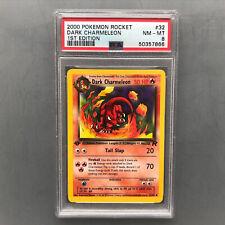 PSA 8 NM - MT Dark Charmeleon 1st edition Team Rocket - 2000 Pokémon Card