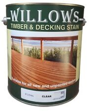 Willows Timber Deck Furniture Window Beams Stain Paint OiL Based 4L Clear