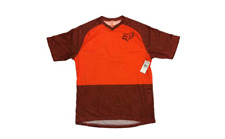 Fox Flow Mountain Bike Mtb Cyclling Jersey Short Sleeve  Orange SMALL