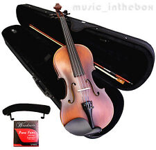 Student Model - 4/4 Antique Style Violin +Bow+Rosin+Case+Should Rest+String set