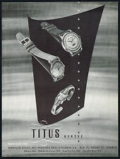 1950s Old Vintage 1951 Solvil Titus Wrist Watch Models Mid Century Art Print AD