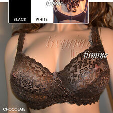 20D NEW GORGEOUS WHITE LACE UNDERWIRE BRA Cotton Lining  Q4