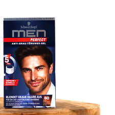 (100ml/32,47) 1xSchwarzkopf MEN Perfect Anti Grau Tönungs Gel 60 Mittelbraun