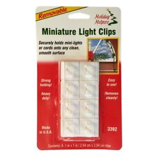 Pack of 8 White Removable Adhesive Christmas Light Clips – Hangers Hooks Sticky