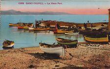 Carte postale ancienne VAR SAINT-TROPEZ le vieux port couleurs