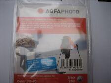 AGFA Photo  PG-40BK Inhalt:26ml XXL-Tinte PixmaMP450 ip1300 ip2600 ip1800 2500