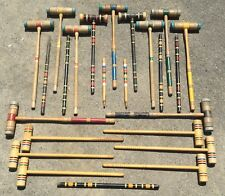 OLD VTG ANTIQUE WOOD CROQUET YARD GAME MALLET PIN HANDLE REPLACEMENT PART LOT 24