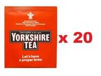 Yorkshire Tea Individually Wrapped Tagged Enveloped One Cup Tea Bags Proper Brew
