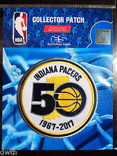 Official Licensed NBA Indiana Pacers 50th Anniversary Iron/Sew On Patch 2016/17