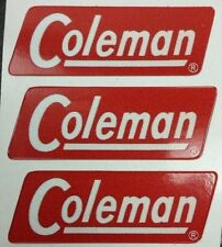 THREE (3) NEW COLEMAN REPLACEMENT STICKER LABEL DECAL LANTERN STOVE 1954-1961