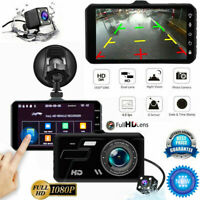4'' Dual Lens Touch Car DVR Rearview camers HD 1080P Camera Recorder Dash Cam