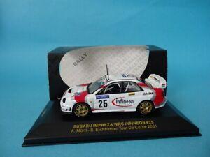 SUBARU IMPREZA S7 WRC #25 - MORTL - RALLY TOUR DE CORSE 2001 - 1/43 IXO RAM041
