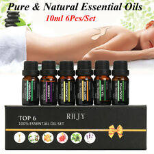 Top6 Essential Oils Set of 6 - 100% Pure Natural Aromatherapy Kit 10ml Gift Box