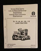 New Holland Service Parts Catalog 75-110 Lawn Tractors *1970