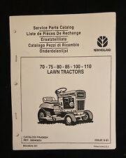 New Holland Service Parts Catalog 75 110 Lawn Tractors 1970