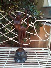 Grande statue danseuse anneau en bronze Chiparus 55cm