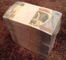 More details for madagascar banknote brick. 1000 x 200 ariary. uncirculated lot.