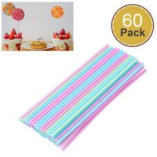 60pcs Colorful Pop Food Lollipop Sticks for Sweet Candy Sugar Chocolate Cake