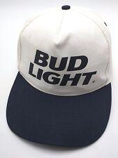 BUD LIGHT white / blue adjustable cap / hat