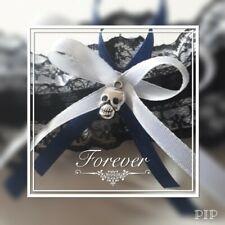 Skull garter black & white . Wedding, prom,dressing up