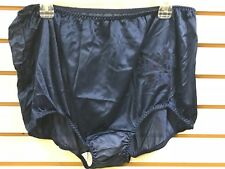 (2) Contessa Plus Nylon Brief Panties Decorative Applique Size 11 / 4X NAVY BLUE