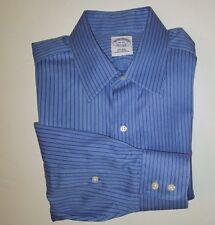 Brooks Brothers Purple Label Blue/White Stripe Button-Front Dress Shirt Sz 15-32