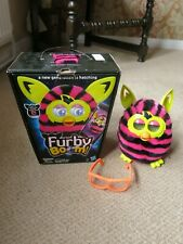 Furby Boom Interactive Toy Pet Hasbro 2012 Pink & Black (Tested & Working)