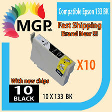 10x Black only GENERIC INK cartridge T133 133 for Epson Stylus N11 NX125 NX13...