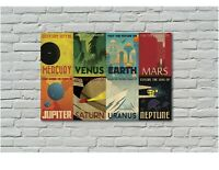 NASA Space Travel Style Retro Canvas Wall Art Framed Print Various Sizes