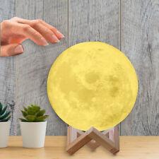 Lámpara en forma de Luna 3d táctil de 18cm multicolor Led