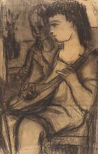 RUDI GRUNER - SINGENDE I - Federzeichnung 1950