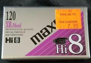 Maxell hi 8 xr-metal video tape 120 New in New in Plastic.