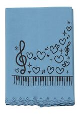 *NEW* Blue musical themed instrument microfibre cleaning cloth free postage