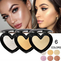 Women Highlighter Face Bronzer Shimmer Contour Eyeshadow Powder Cosmetics New