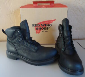 "New Red Wing 6"" Boots, w Box Black 12 B, Steel toe and EH rated,  style 02223-0"