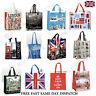 Large Reusable Womens Ladies Shopping Tote Bag London Icons Souvenir Shopper