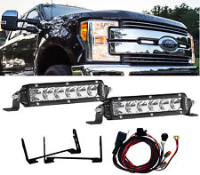 RIGID Grille LED Light Kit w/ Pair SR-Series PRO Lights for 17 18 Ford F250 F350