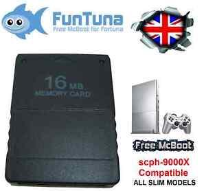 PS2 Slim SCPH-90000 SoftMod Free Mcboot FUNTUNA Memory Card all SLIM Models