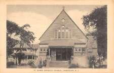 Jamestown Rhode Island St Marks Catholic Church Antique Postcard K18024