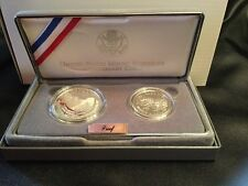 1991 Mount Rushmore Anniversary 2 Coin Proof Set (Half Dollar & Silver Dollar)