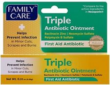 ANTIBIOTIC OINTMENT TRIPLE  Anti Infection First Aid Family Care 0.33 oz