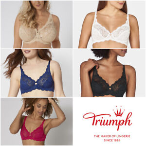 Triumph Amourette 300 W X 10166797 Wired Non Padded Lace High Apex Bra RRP £38