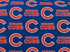 """CHICAGO CUBS 60"""" WIDE COTTON FABRIC BY THE 1/2 YARD Fabric Traditions b"""