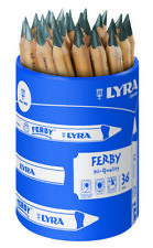 Lyra Ferby Chunky Short Wooden School Pencil Pot of 36