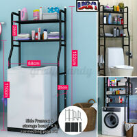 US 3 Layer Over Toilet Shelf Rack Bathroom Towel Storage Home Organizer Holder